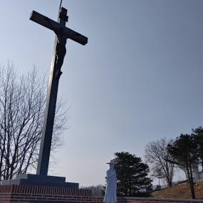 고성 통일전망대 내 십자가